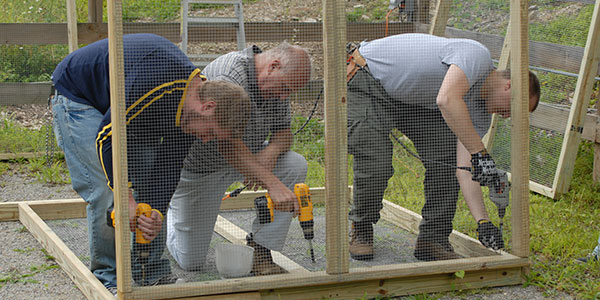 volunteering carpentry skills